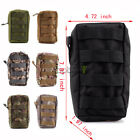 Tactical Molle Utility Zipper Organize Pouch Bag For Backpack Racksacks Hiking