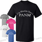 Im Muslim Dont Panic T-Shirts Mens Womens Tshirt Crescent moon Gifts Sizes S-XXL