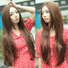 Women's Sexy Long Straight Natural Hair Full Wig Cosplay Party Synthetic 3 Color