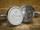 Lucky Sixpence Silver Coin Cufflinks Choice of Birthday year 1928 to 1967