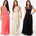 Sexy Women Lace Summer Beach Long Maxi Dresses Cocktail Party Prom Chiffon Dress