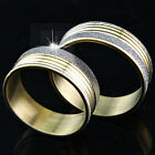 2015 New Top 316L Stainless Steel Gold Frosted Rings Fashion Women Men's Jewelry