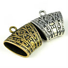 12 pcs CCB DIY jewelry findings scarf bails antique golden silver tube PT-672