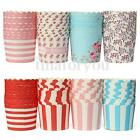 """50x Heat-resistant Cupcake liners Cake Mould Standing Paper Baking Cups 2.8"""""""