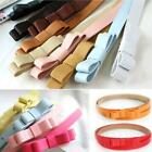 Ladies Adjustable PU Leather New Womens Bow Skinny Thin Low Waist Belt