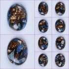 40mm Blue sea sediment jasper copper oval cab cabochon