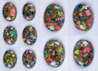 40mm Multi-color sea sediment jasper pyrite oval cab cabochon