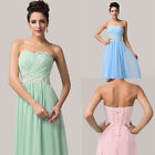 SUMMER New Strapless Chiffon Ball Gown Evening Wedding Pageant Prom Party Dress