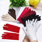 High Elastic Women's Outdoor Sports Driving Gloves Bride Wedding Long Gloves