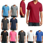 MENS MID-WEIGHT, V NECK 100% COTTON & 50/50 COTTON/POLY T-SHIRTs S-L XL 2X 3X 4X