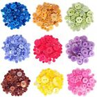 60g Pack Circular Acrylic Plastic Assorted Size Craft Buttons