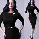 Fashion Women Long Sleeve Office lady Party Evening Cocktail Slim Pencil Dress