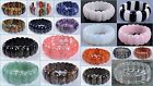 "25mm Faceted gemstone beads stretchable bracelet 8"" *lot of choices*"