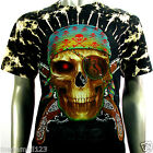 Survivor T-Shirt Sz M L XL XXL 3XL Biker Skull Pirate Assassin Tattoo Studs S123