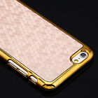 """Deluxe Leather Gold Chrome Slim Hard Case Cover for iPhone 6 4.7""""/6 Plus 5.5"""""""