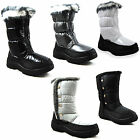Ladies Womens Snow Winter Ski Rain Resistant Flat Boots Size UK 3 4 5 6 7 8 9
