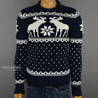 """New Abercrombie & Fitch Mens A&F """"Wallface Mountain"""" Muscle Fit Winter Sweater"""