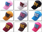 Baseball Cap Adjustable Cotton Sun NYC Hat Men Ladies Hat