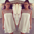 New Women Summer Casual Sleeveless Dresses Cocktail Short Mini Dress Reliable