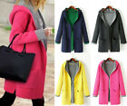 Hot New Women Contrast color Knit Long Cardigan Sweater Coat Jacket Tops