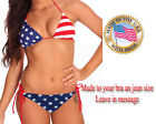 USA 4TH OF JULY AMERICAN FLAG PATRIOTIC BIKINI  Made to  bra a jean size