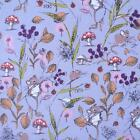 FIELD MICE DUSTY MAUVE  MAKOWER INPRINT WILDLIFE 100% COTTON FABRIC MOUSE