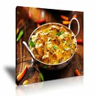 INDIAN FOOD 6 Asian Food & Drink 1S Canvas Framed Printed Wall Art ~ More Size