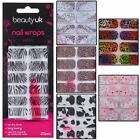 Beauty UK Nail Wraps Stickers Foils 3D Art & File Animal Print Leopard Cow Zebra