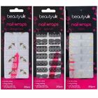 Beauty UK Nail Wraps Stickers Foils Art File Lace White Black Vintage Miami Sea