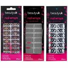 Beauty UK Nail Wraps Stickers Foils Art Nail File Dog Tooth Skull Halloween Goth