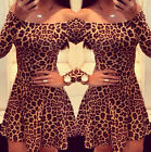 Women Sexy Bandage Bodycon Evening Party Club Cocktail Mini Leopard Dress Dance