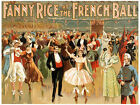 4892.Fanny rice at the French Ball.people at party.POSTER.Decoration.Graphic Art