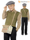 Boys 1940s WW2 Evacuee Costume World War 2 40's Kids Fancy Dress Outfit School