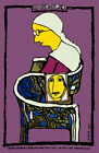 4957.La fidelidad.woman with glasses sits on chair.POSTER.Decoration.Graphic Art
