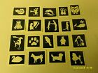 Внешний вид - 10 - 400 cute & funny animals stencils (mixed) for etching on glass