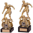 Mystique Gold Football Trophy with free wrist band FREE ENGRAVING TR4927TSA