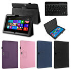 """For Microsoft Surface RT Surface 2 10.6"""" Leather Case Cover + Bluetooth Keyboard"""