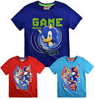 Boys Sonic The Hedgehog T Shirt Kids Tee Short Sleeve Top New Age 3 4 6 8 Years