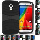 Hybrid Heavy Duty Hard Soft Shockproof Armor Case Cover With Kickstand for Phone