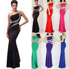 Long Mermaid SLIM Bridesmaid Prom Gown Evening Dresses Plus Size 6-8-10-12-14-16