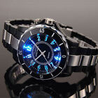 Kyпить New OHSEN Black/white Steel LED light Men boy Quartz Sport Dial Wrist Watch Gift на еВаy.соm