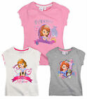 Girls Disney Princess Sofia The First Top Kids T Shirt New Age 3 4 5 6 Years