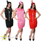 LADIES FRINGE FLAPPER DRESS HEADPIECE 20S 30S FANCY DRESS COSTUME PLUS SIZE XXL