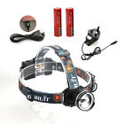 Rechargeable Boruit 2500LM Zoomable XML T6 LED Head Torch Headlamp Headlight USB