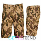 Mens Cargo Bay Camouflage Shorts Men's 100% Cotton Camo Army Combat Shorts