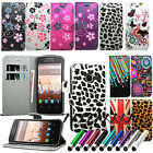 Floral Flower Flip Wallet Leather Case Cover Book For Alcatel One Touch 3040