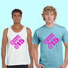 NEW SUNNY BEACH 2015 MENS HOLIDAY T SHIRT VEST - LADS ON TOUR, STAG personalise.