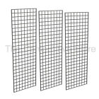 2' X 6' Gridwall Panels - 3 Pcs Box - Grid Wall Display - Black, White or Chrome