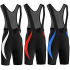 Mens Cycling Bib Shorts CoolMax Padded Quick Dry compression thermal All Sizes