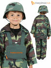 Age 4-12 Kids VE Day WW2 Army Soldier Combat Uniform Costume Fancy Dress Boys